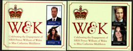 St Vincent Grenadines (Mustique) 2011 Blocks 9-10 MNH ENGAGEMENT PRINCE WILLIAM & KATE MIDDLETON - Familles Royales