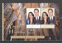 Australia 2011 Mi Block 122 MNH - WEDDING WILLIAM & CATHERINE - Royalties, Royals