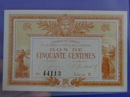 Billet Neuf De Cinquante Centimes Série B Chambre De Commerce De La Roche Sur Yon Et De La Vendée Semeuse Agriculture - Camera Di Commercio