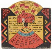 VOYANCE MAGIE SYSTEME RARE ROULETTE MAGICIEN PASSE AVENIR PUBLICITE CHAMBRELENT ASSURANCE CITE TOULOUSE CAUNES  (6gali8) - Pubblicitari