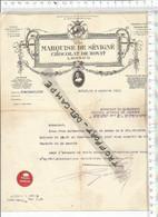 PO /  FACTURE Ancienne @@ 1915 MARQUISE DE SEVIGNE  CHOCOLAT DE ROYAT - 1900 – 1949