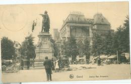 Gand 1913; Statue Van Artevelde - Voyagé. (Nels - Bruxelles) - Gent