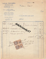 13 0004 AUBAGNE BOUCHES DU RHONE 1927 CÉRAMIQUE D'ART LOUIS SICARD USINES RUE DU ROSIER ET BOULEVARD LAKANAL à Mme DOR - 1900 – 1949