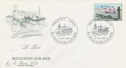1503 FDC BOULOGNE Sur MER 8.7.67 - 1960-1969