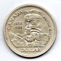 CANADA, 1 Dollar, Silver, Year 1958, KM #55 - Canada