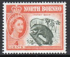 North Borneo 1961 Queen Elizabeth Single 4c Stamp From The Definitive Set. - Noord Borneo (...-1963)