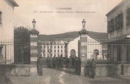 15 Aurillac Caserne Delzons Entrée Du Quartier , Cpa Carte Ecrite En 1915 - Aurillac