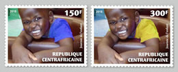 CENTRAL AFRICA 2018 - Child's Day, 2v. Official Issue - Zentralafrik. Republik
