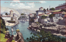 Mostar * Römerbrücke Mit Radobolja Mündung, Hund, Dackel, Leute, Fluss, Ufer * Bosnien Herzegowina * AK3001 - Bosnia Erzegovina