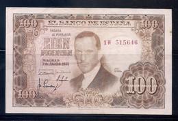 ESPAÑA - BILLETE DE 100 PESETAS DEL AÑO 1953 - JULIO ROMERO DE TORRES - [ 3] 1936-1975: Regime Van Franco