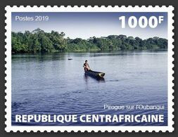 CENTRAL AFRICA 2019 - Canoe, 1v. Official Issue [CALC190105a] - Zentralafrik. Republik