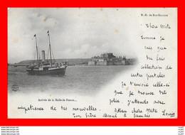 CPA JERSEY  .Arrivée De La Malle De France, Bateau à Vapeur, Collège De N.D. De Bon-Secours..CO2104 - Jersey