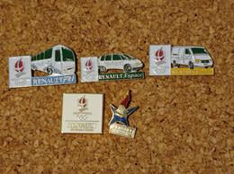 LOT DE 5 PINS JEUX OLYMPIQUES RENAULT TRAFIC ESPACE - Giochi Olimpici