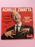 Vinyle 45 T ACHILLE ZAVATTA Dédicacé - Other - French Music