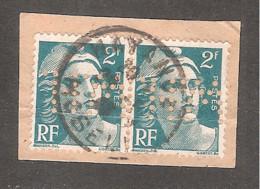 Perforé/perfin/lochung France No 713/713A  W.H. Petits Fils François De Wendel & Cie - Perforadas