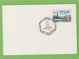 """CACHET """" ROUTE CHARLEMAGNE , 6593 MACQUENOISE. - Storia Postale"""