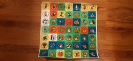 Lids Of Chewing Gum, Hunggary, 1980s - Disney, Flintstons, Asterix - Koffiemelk-bekertjes