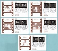 FDC France 1986 - Série Cinéma Français - Sacha Guitry - Louis Feuillade Marcel Pagnol René Clair J. Becker YT 2433/2442 - 1980-1989