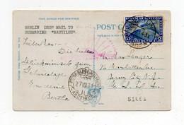 !!! THEME POLAIRE, POLARFAHRT, CPA DE BERLIN DU 25/7/1931 POUR LE SOUS MARIN NAUTILUS. RARE - Polar Flights