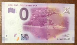 2017 BILLET 0 EURO SOUVENIR ALLEMAGNE DEUTSCHLAND KOBLENZ - DEUTSCHES ECK ZERO 0 EURO SCHEIN BANKNOTE PAPER MONEY - [17] Vals & Specimens