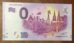 2017 BILLET 0 EURO SOUVENIR ALLEMAGNE DEUTSCHLAND KÖLNER ZOO ZERO 0 EURO SCHEIN BANKNOTE PAPER MONEY - [17] Vals & Specimens