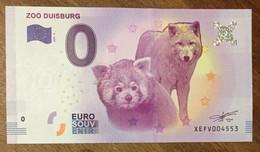 2017 BILLET 0 EURO SOUVENIR ALLEMAGNE DEUTSCHLAND ZOO DUISBURG PANDA ROUX LOUP ZERO 0 EURO SCHEIN BANKNOTE PAPER MONEY - [17] Vals & Specimens