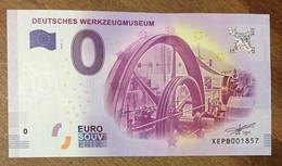 2017 BILLET 0 EURO SOUVENIR ALLEMAGNE DEUTSCHLAND DEUTSCHES WERKZEUGMUSEUM ZERO 0 EURO SCHEIN BANKNOTE PAPER MONEY - [17] Vals & Specimens