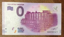 2017 BILLET 0 EURO SOUVENIR ALLEMAGNE DEUTSCHLAND TEO OTTO THEATER ZERO 0 EURO SCHEIN BANKNOTE PAPER MONEY - [17] Vals & Specimens