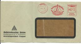 """Troppau Opava Firmen-Brief Troppau """"Sudetendeutsche Union"""" Freistempler 1942 - Sudetenland"""