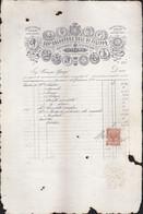 1885 PALERMO - CAV. SALVATORE GULI' - RICEVUTA PRINCIPE GANGI.copia Autenticata. - Italia