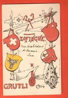 ZBI-03 Neuchâtel Litho Société D'étudiants Zofingue Zofingen Studentenkarte, Students,Grütli 1904.Circulé 1904 - NE Neuchatel