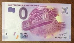 2017 BILLET 0 EURO SOUVENIR ALLEMAGNE DEUTSCHLAND WUPPERTALER SCHWEBEBAHN ZERO 0 EURO SCHEIN BANKNOTE PAPER MONEY - [17] Vals & Specimens