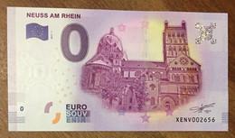 2017 BILLET 0 EURO SOUVENIR ALLEMAGNE DEUTSCHLAND NEUSS AM RHEIN ZERO 0 EURO SCHEIN BANKNOTE PAPER MONEY - [17] Vals & Specimens