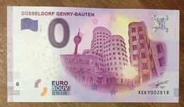 2017 BILLET 0 EURO SOUVENIR ALLEMAGNE DEUTSCHLAND DÜSSELDORF GEHRY-BAUTEN ZERO 0 EURO SCHEIN BANKNOTE PAPER MONEY - [17] Vals & Specimens