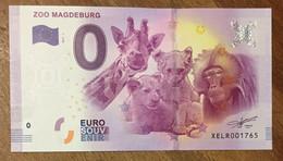 2017 BILLET 0 EURO SOUVENIR ALLEMAGNE DEUTSCHLAND ZOO MAGDEBURG ZERO 0 EURO SCHEIN BANKNOTE PAPER MONEY - [17] Vals & Specimens