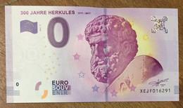2017 BILLET 0 EURO SOUVENIR ALLEMAGNE DEUTSCHLAND 300 JAHRE HERKULES ZERO 0 EURO SCHEIN BANKNOTE PAPER MONEY - [17] Vals & Specimens