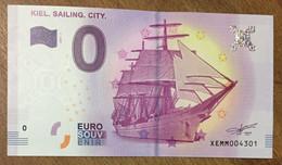 2017 BILLET 0 EURO SOUVENIR ALLEMAGNE DEUTSCHLAND KIEL. SAILING. CITY. ZERO 0 EURO SCHEIN BANKNOTE PAPER MONEY - [17] Vals & Specimens