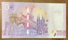 2017 BILLET 0 EURO SOUVENIR ALLEMAGNE DEUTSCHLAND LÜBECK ZERO 0 EURO SCHEIN BANKNOTE PAPER MONEY - [17] Vals & Specimens