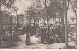 CPA Précurseur Granville - Le Marché (très Belle Scène) - Granville