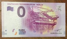 2017 BILLET 0 EURO SOUVENIR ALLEMAGNE DEUTSCHLAND DEUTSCHES TECHNIKMUSEUM BERLIN ZERO 0 EURO SCHEIN BANKNOTE PAPER MONEY - [17] Vals & Specimens