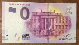 2017 BILLET 0 EURO SOUVENIR ALLEMAGNE DEUTSCHLAND BERLINER SCHLOSS ZERO 0 EURO SCHEIN BANKNOTE PAPER MONEY - [17] Vals & Specimens
