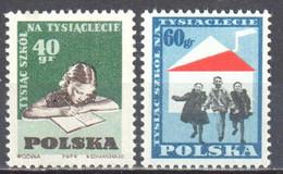 Poland 1959 - Children And School. - Mi 1130-31 - MNH (**) - Nuevos