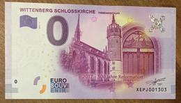 2017 BILLET 0 EURO SOUVENIR ALLEMAGNE DEUTSCHLAND BURG KRIEBSTEIN ZERO 0 EURO SCHEIN BANKNOTE PAPER MONEY - [17] Vals & Specimens