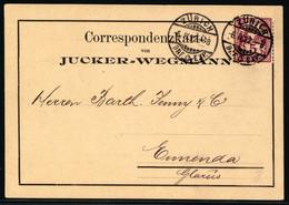 60A Auf Firmenkorrespondenzkarte Von Jucker=Wegmann Zürich - Gelaufen Von ZÜRICH Nach ENNENDA - Brieven En Documenten