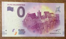 2017 BILLET 0 EURO SOUVENIR ALLEMAGNE DEUTSCHLAND BURG MILDENSTEIN ZERO 0 EURO SCHEIN BANKNOTE PAPER MONEY - [17] Vals & Specimens
