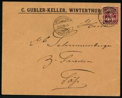 60B Auf Firmenbrief C. GUBLER-KELLER, WINTERTHUR - Gelaufen Von WINTERTHUR Nach TÖSS (WINTERTHUR) - Covers & Documents