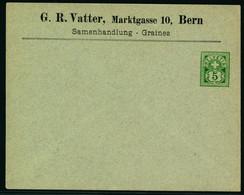 Sujet Wetziffer 5 Rp. Auf Ungelaufener Firmengazsache - G. R. VATTER - MARKTGASSE 10 - BERN - Covers & Documents