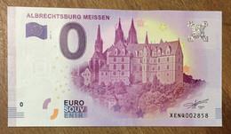 2017 BILLET 0 EURO SOUVENIR ALLEMAGNE DEUTSCHLAND ALBRECHTSBURG MEISSEN ZERO 0 EURO SCHEIN BANKNOTE PAPER MONEY - [17] Vals & Specimens