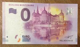 2017 BILLET 0 EURO SOUVENIR ALLEMAGNE DEUTSCHLAND SCHLOSS MORITZBURG ZERO 0 EURO SCHEIN BANKNOTE PAPER MONEY - [17] Vals & Specimens
