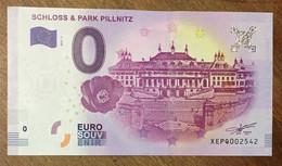 2017 BILLET 0 EURO SOUVENIR ALLEMAGNE DEUTSCHLAND SCHLOSS & PARK PILLNITZ ZERO 0 EURO SCHEIN BANKNOTE PAPER MONEY - [17] Vals & Specimens